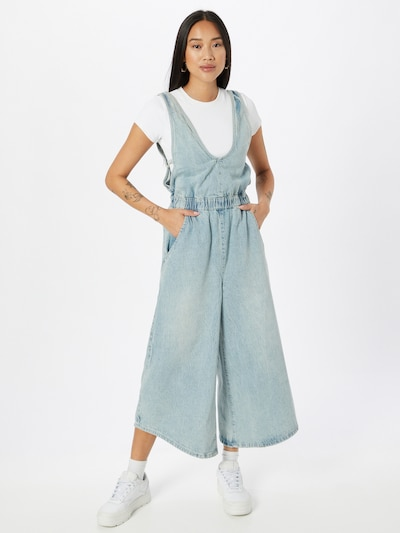 Free People Jumpsuit 'ALORA' in Blue denim, View model