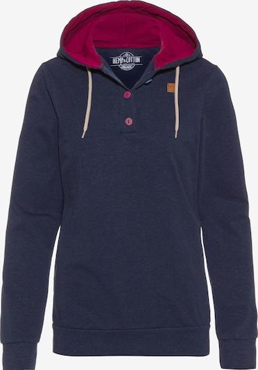 E9 Sportsweatshirt 'Kira' in navy / dunkelrot, Produktansicht