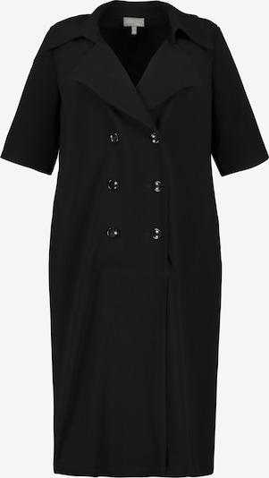Ulla Popken Mantelkleid in schwarz, Produktansicht