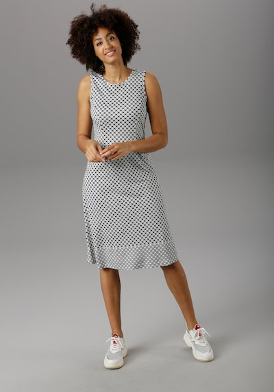 Aniston SELECTED Sommerkleid in schwarz / weiß, Modelansicht