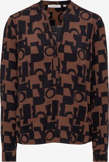 ETERNA Bluse in nachtblau / braun, Produktansicht