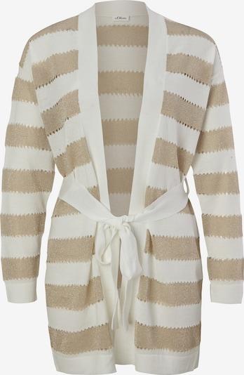 s.Oliver BLACK LABEL Cardigan en beige / blanc cassé, Vue avec produit