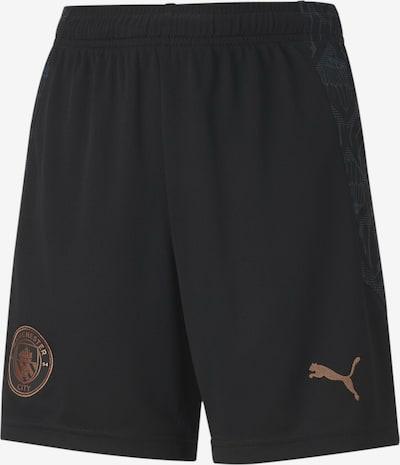 PUMA Sportbroek 'Manchester City' in de kleur Duifblauw / Lichtbruin / Zwart, Productweergave