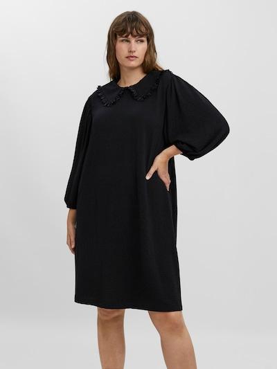 Vero Moda Curve Kleid 'Erika' in schwarz, Modelansicht