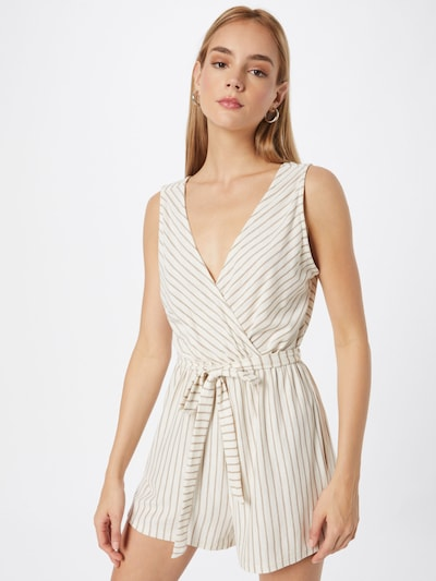 ABOUT YOU Jumpsuit 'Hanne' in Brown / White, View model