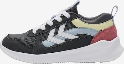 Hummel Sneaker in hellblau / pastellgelb / anthrazit / pastellrot / weiß, Produktansicht