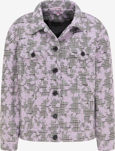 MYMO Jacke in lila / schwarz / weiß, Produktansicht