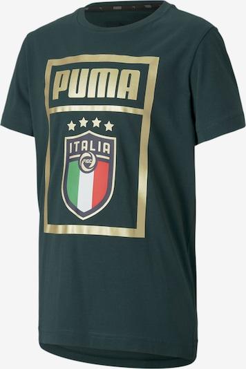PUMA T-Shirt 'Italia DNA' in blau / gold / petrol / rot, Produktansicht