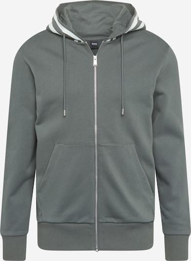 BOSS Tepláková bunda 'Seeger' - kaki / biela, Produkt