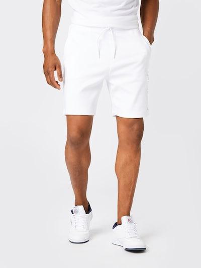 Pantaloni 'Doolio' HUGO pe negru / alb murdar, Vizualizare model