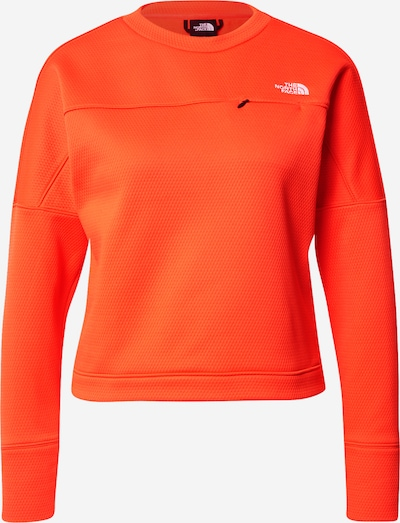 THE NORTH FACE Sportief sweatshirt 'Hikesteller' in de kleur Oranjerood / Wit, Productweergave