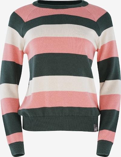 mazine Knit Sweater ' Nisa ' in grau / altrosa / weiß, Produktansicht