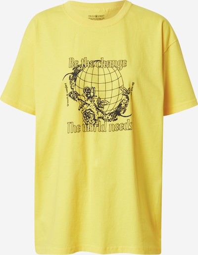 Daisy Street T-shirt 'TYLER' i gul / svart, Produktvy