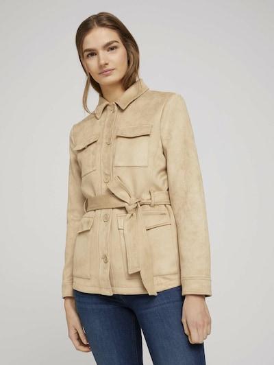 TOM TAILOR DENIM Prechodná bunda - svetlobéžová, Model/-ka
