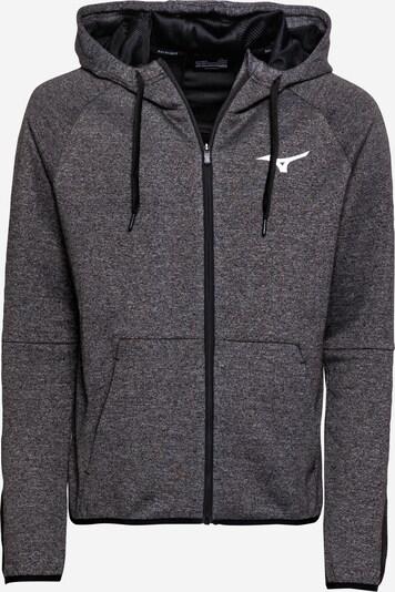 Giacca di felpa sportiva MIZUNO di colore grigio scuro / nero / bianco, Visualizzazione prodotti