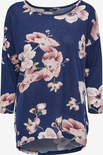 ONLY Shirt 'ELCOS' in enzian / oliv / rosa / weiß, Produktansicht