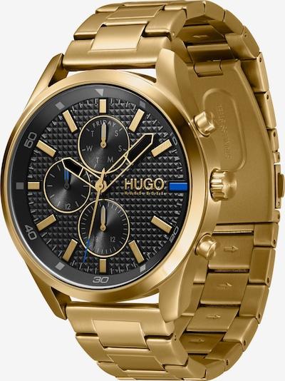 HUGO Аналогов часовник в синьо / злато / сиво / черно, Преглед на продукта