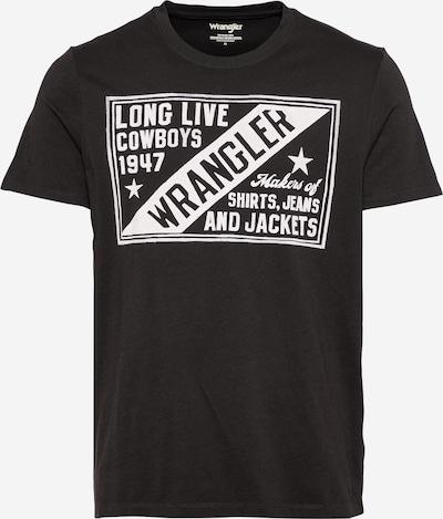 WRANGLER Camiseta 'AMERICANA' en negro / blanco, Vista del producto