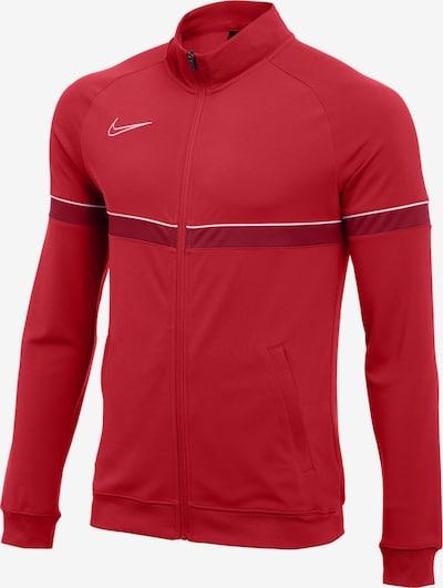NIKE Sportjacke 'Academy' in rot / merlot / weiß, Produktansicht