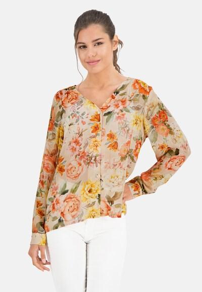 PRINCESS GOES HOLLYWOOD Bluse 'VINTAGE FLOWER' in nude / gelb / grün / apricot, Modelansicht