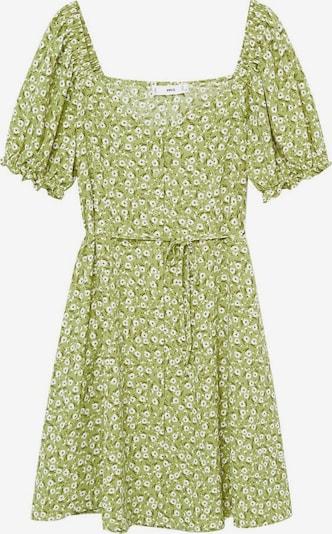 MANGO Kleid 'Sere' in hellgrün / schwarz / weiß, Produktansicht