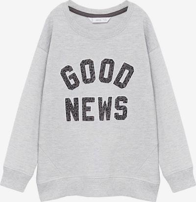 MANGO KIDS Sweat-shirt 'BISOUS' en gris / gris basalte / noir, Vue avec produit