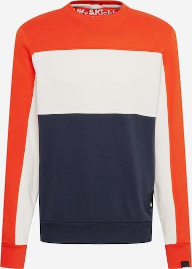 Alife and Kickin Sweatshirt 'Vince' in navy / orangerot / weiß, Produktansicht