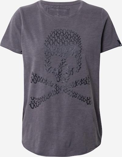 True Religion T-shirt 'SKULL' en gris foncé / noir, Vue avec produit