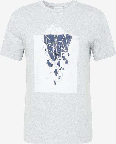 ARMEDANGELS Shirt 'Jaames Iceberg' in kobaltblau / graumeliert / weiß, Produktansicht