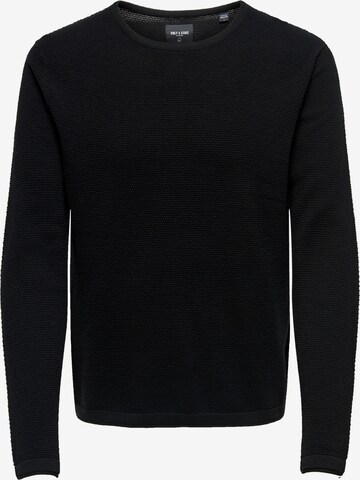 Only & Sons Sweter 'Panter' w kolorze czarny