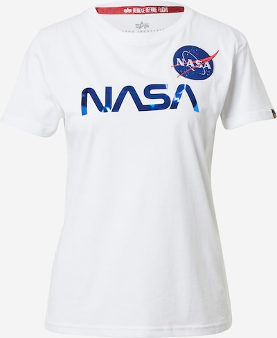 ALPHA INDUSTRIES Camiseta 'NASA' en azul / blanco, Vista del producto