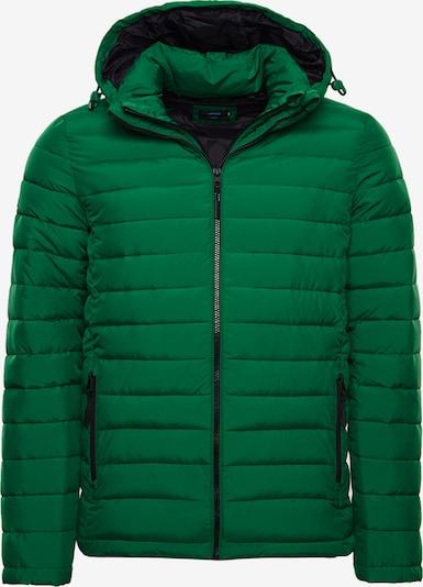Superdry Veste d'hiver en vert: Vue de face