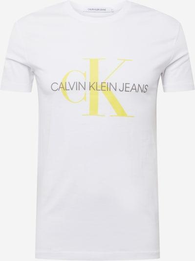 Calvin Klein Jeans Тениска в жълто / черно / бяло, Преглед на продукта