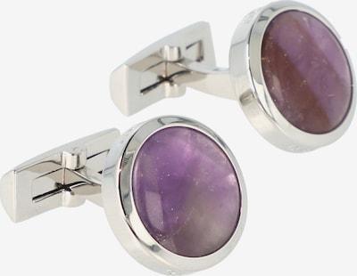 Davidoff Manschettenknöpfe 'Precious Stones' in lila / silber, Produktansicht