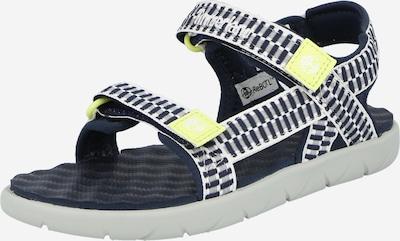 TIMBERLAND Chaussures ouvertes 'Perkins' en bleu marine / jaune / gris clair / blanc, Vue avec produit