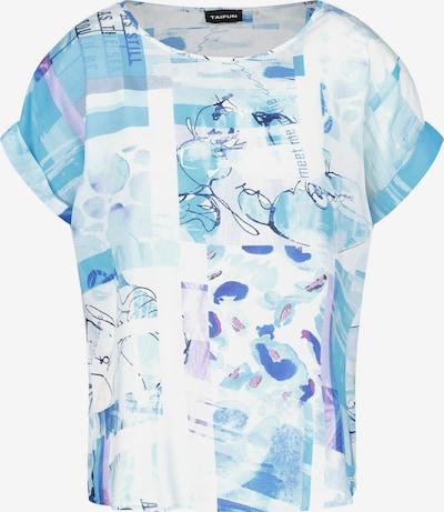 TAIFUN Blus i aqua / ljusblå / lila / syrén / vit, Produktvy