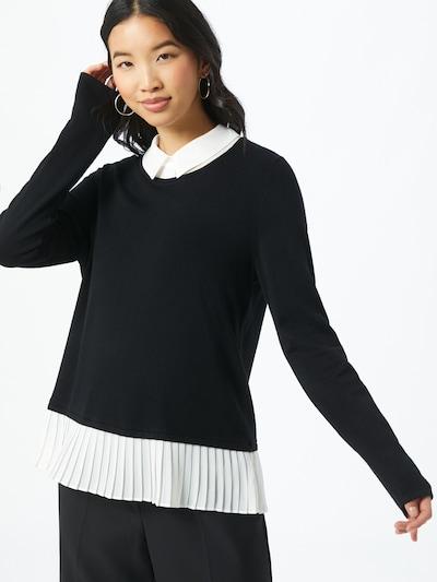 s.Oliver BLACK LABEL Pullover in schwarz / weiß, Modelansicht