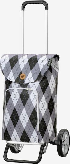 Andersen Shopper Einkaufstrolley  'Arik' in grau / stone / schwarz / weiß, Produktansicht