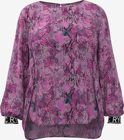 Rock Your Curves Blusenshirt in fuchsia / rosa / schwarz, Produktansicht