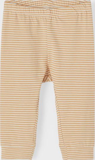 NAME IT Pantalon 'FIPAN' en jaune d'or / blanc, Vue avec produit