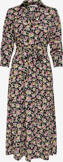 ONLY Robe-chemise 'STINE' en moutarde / rose / noir / blanc, Vue avec produit