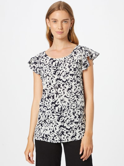 fekete / fehér ZABAIONE Póló 'Tamara': Elölnézet