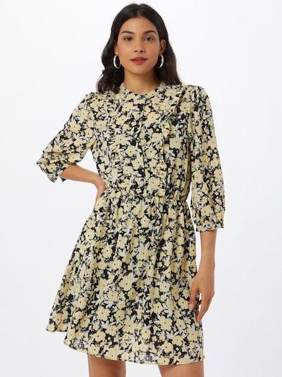 MOSS COPENHAGEN Kleid in pastellgelb / grau / schwarz / weiß, Modelansicht