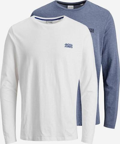 JACK & JONES Shirt in de kleur Marine / Wit, Productweergave