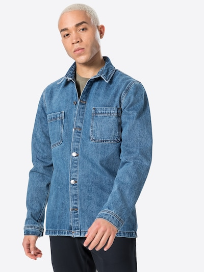Denim Project Shirt in Blue denim: Frontal view