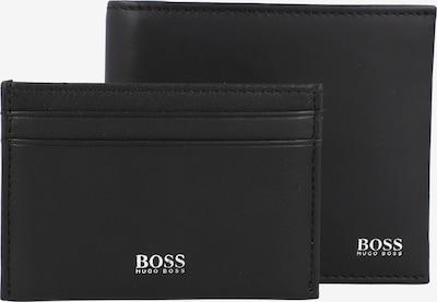 BOSS Casual Geldbörse + Kreditkartenetui in schwarz / silber, Produktansicht