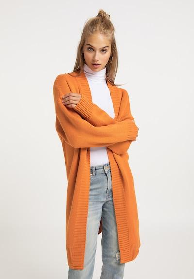 MYMO Cardigan in orange, Modelansicht