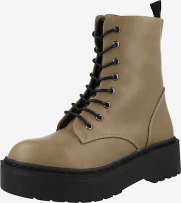 rubi Lace-Up Ankle Boots in Green