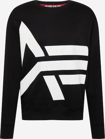 ALPHA INDUSTRIESSweater majica 'Side' - crna boja