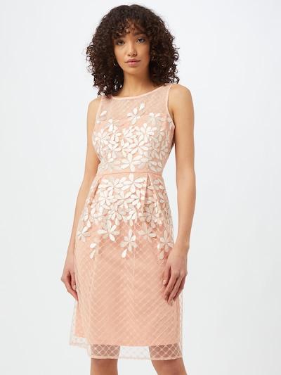Adrianna Papell Koktejlové šaty 'FIT AND FLARE' - slonová kost / růžová, Model/ka